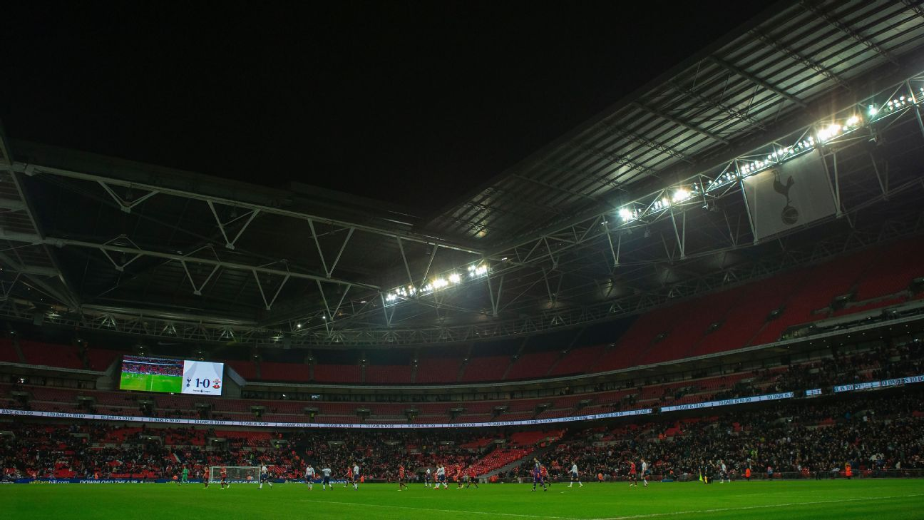 Just 33,012 attended Tottenham's 3-1 win against Southampton at Wembley on Wednesday.