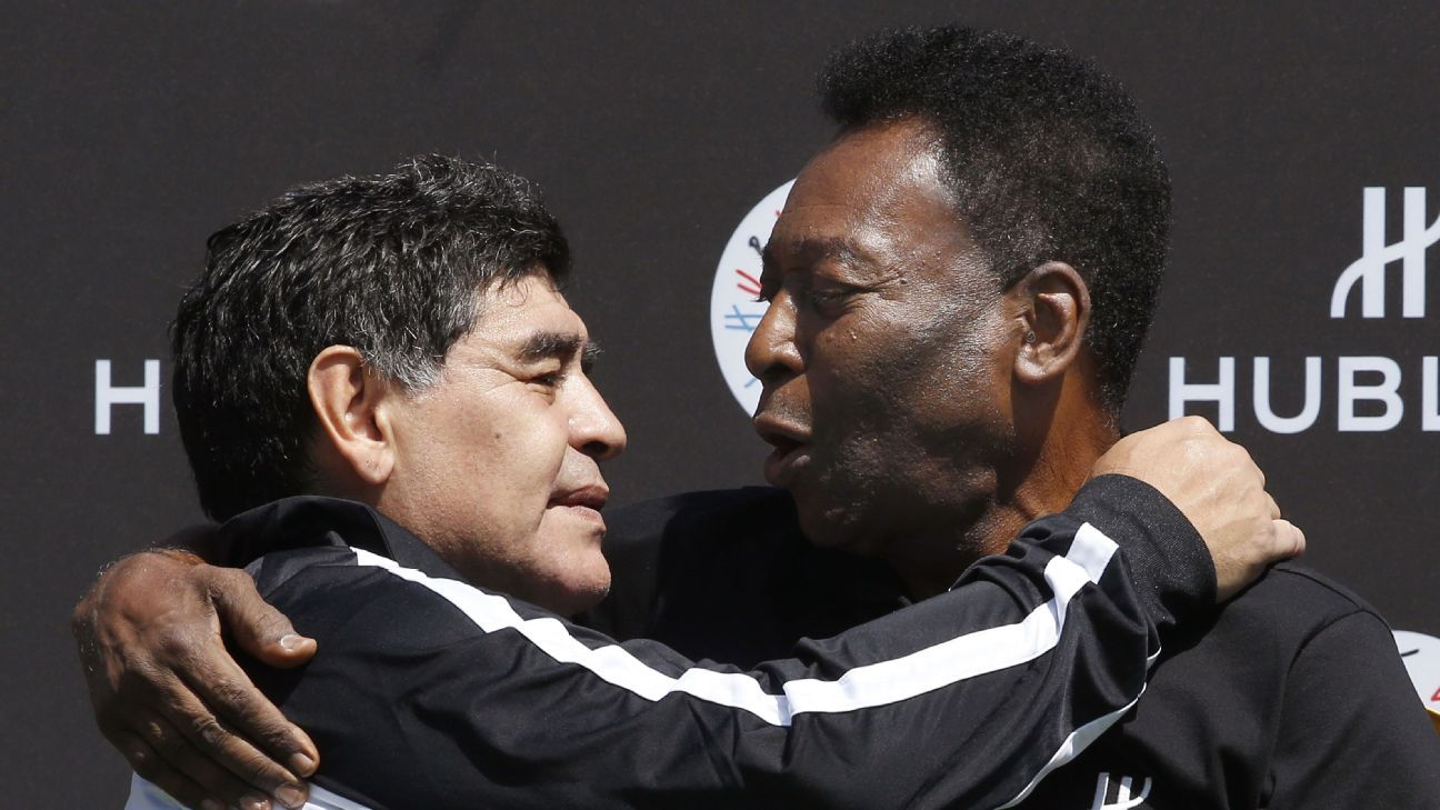 Pele has said Diego Maradona is a 'much, much better' player than Lionel Messi