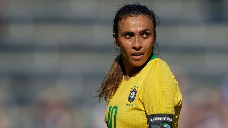 The 2019 Women's World Cup in France will be Marta's fourth appearance in the tournament.