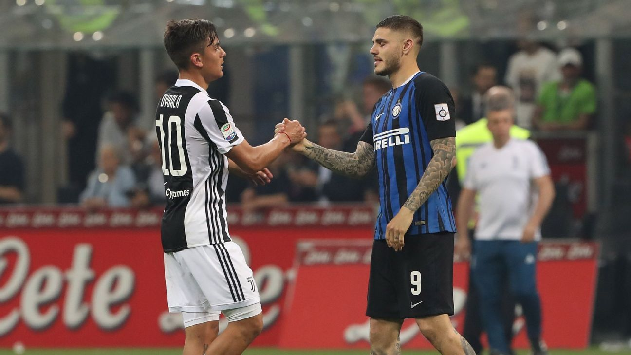 Paulo Dybala, left, and Mauro Icardi, right, are the future of both Juventus and Inter. How will the pair fare on Friday night?