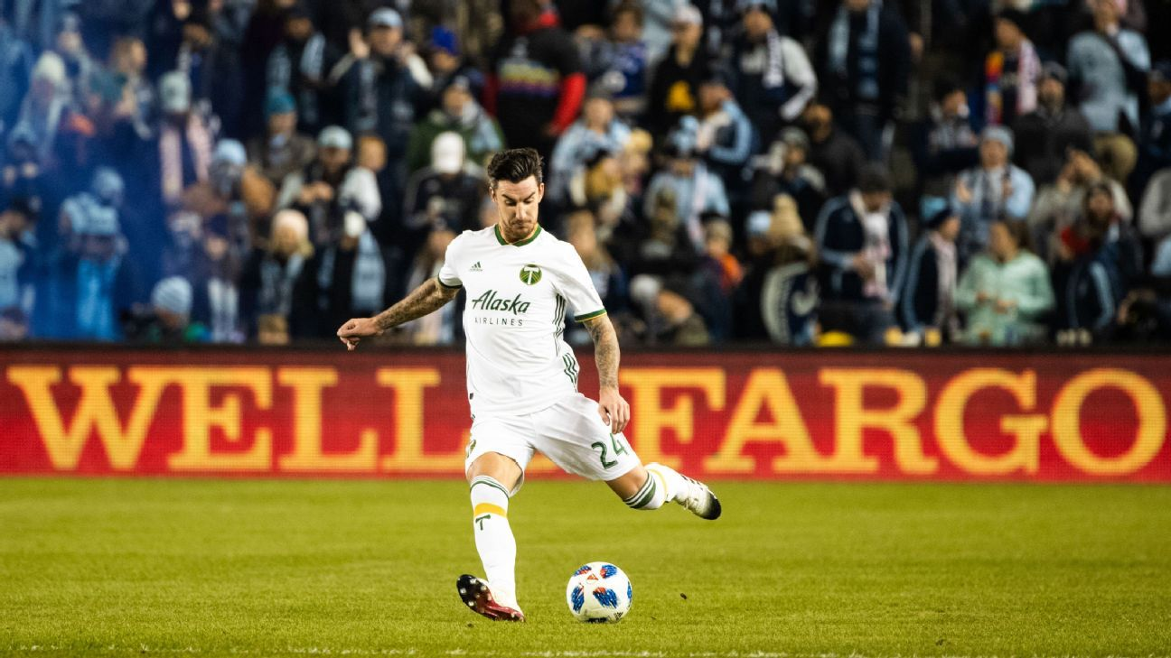 Portland Timbers defender Liam Ridgewell in action during the 2018 Western Conference Final against SKC.
