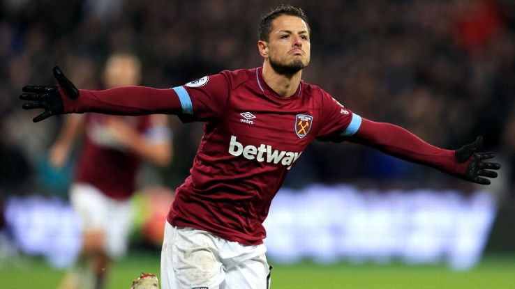 Javier Hernandez scored to put West Ham ahead against Crystal Palace.