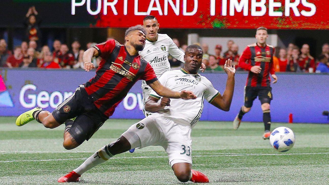 Josef Martinez thanks Atlanta United teammate Miguel Almiron for making him a champion