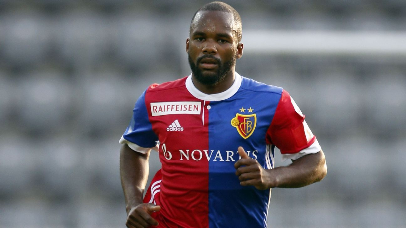Basel player Aldo Kalulu had a banana thrown at him as he took a corner at Zurich.