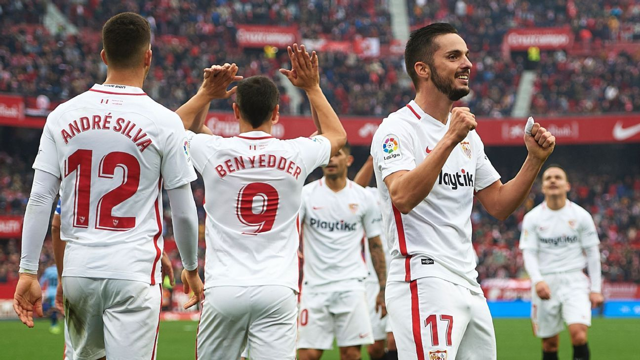 Pablo Sarabia scored Sevilla's second goal against Girona