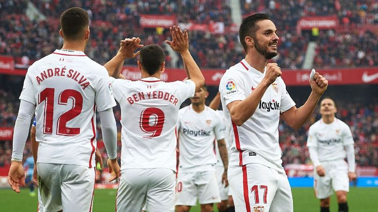 Pablo Sarabia scored Sevilla's second goal against Girona