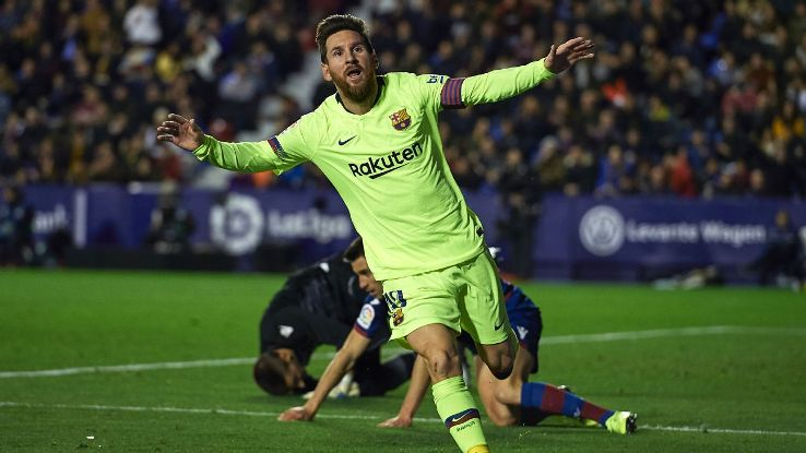 Lionel Messi was the star man again for Barcelona, scoring a hat trick and assisting on the side's other two goals.
