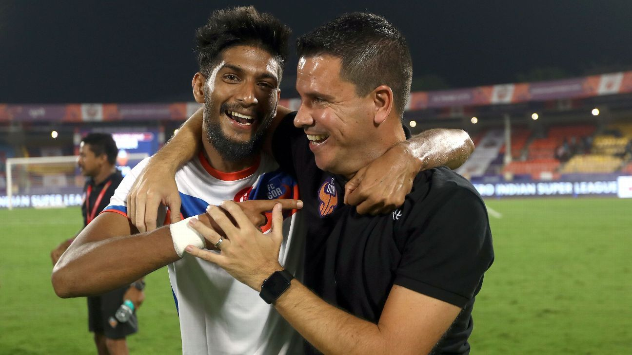 FC Goa's Mohamed Ali with coach Sergio Lobera: Goa players say Lobera encourages them to trust themselves and play out of trouble rather than playing risk-free football.
