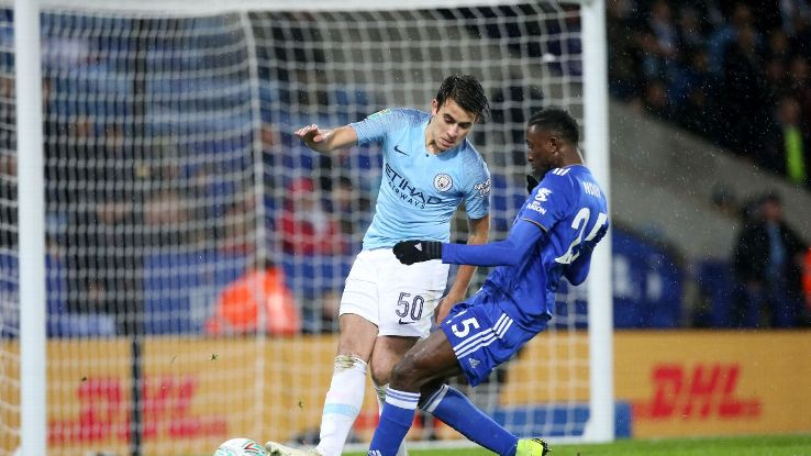 Eric Garcia, 17, was given his senior debut and impressed for Man City against Leicester in the Carabao Cup.