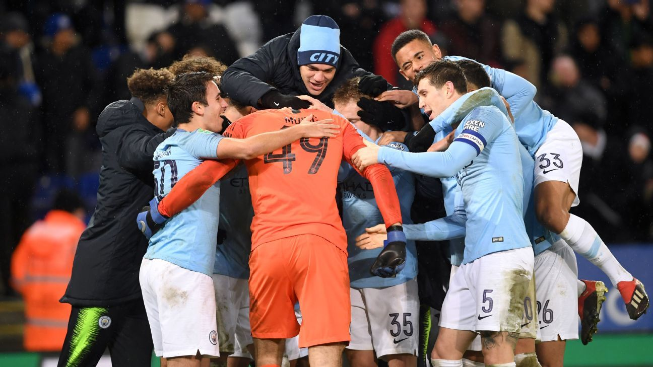 It took penalties but Man City survived vs. Leicester to advance to the semis and keep their Carabao Cup defence on.