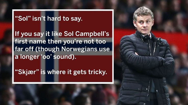 Ole Gunnar Solskjaer's return to Manchester United raises the issue of how to pronounce his name
