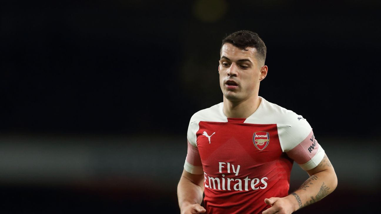 Granit Xhaka did his best but again proved on Wednesday that he should not be deployed as a centre-back.