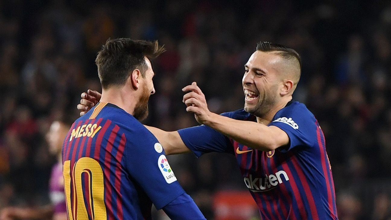 Jordi Alba was Barcelona's best against Celta Vigo, producing a sublime assist for Barca's second.