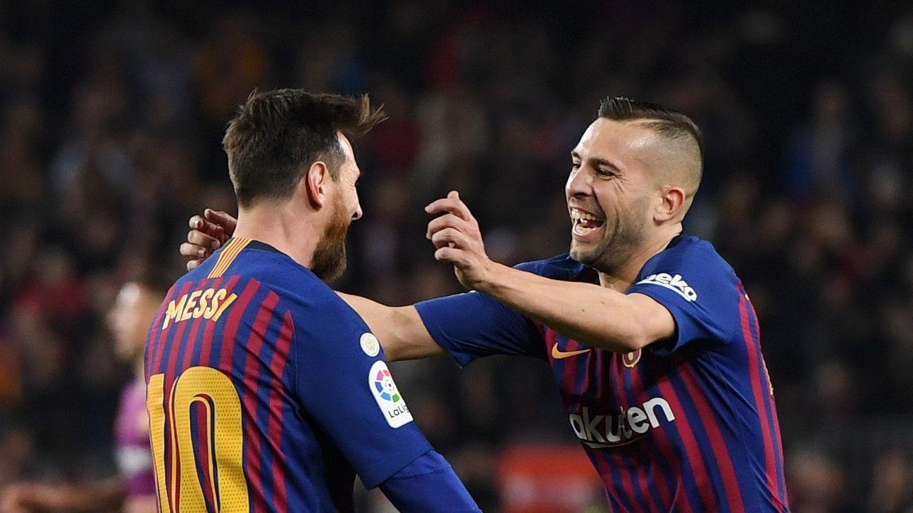 Jordi Alba was Barcelona's best against Celta Vigo, producing a sublime assist for Barca's second.