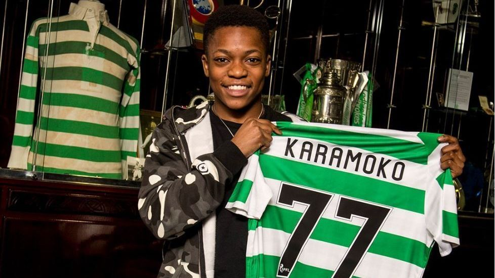 Karamoko Dembele signed his first professional contract with Celtic at 15