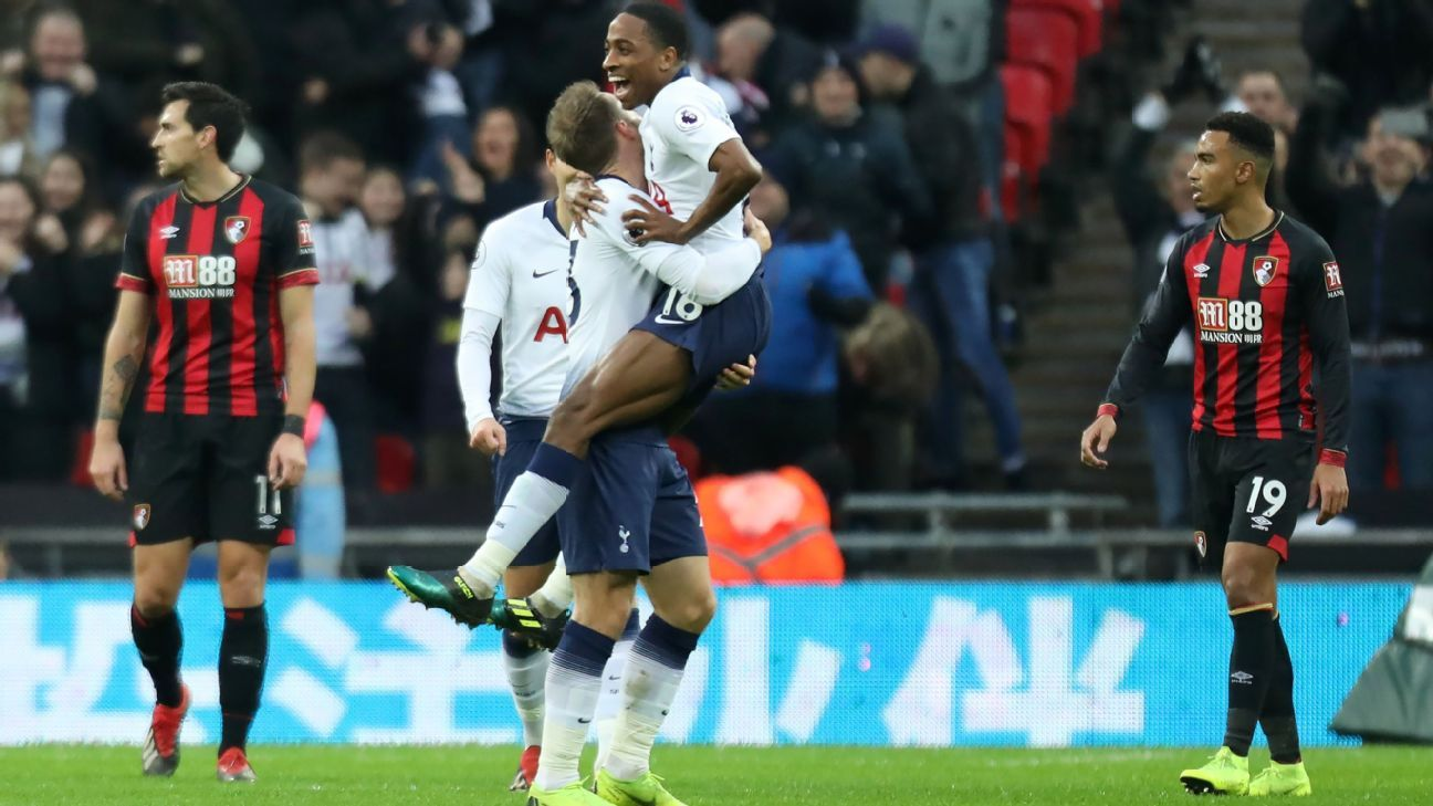 Kyle Walker-Peters, 21, set up three goals for Tottenham against Bournemouth in the Premier League.