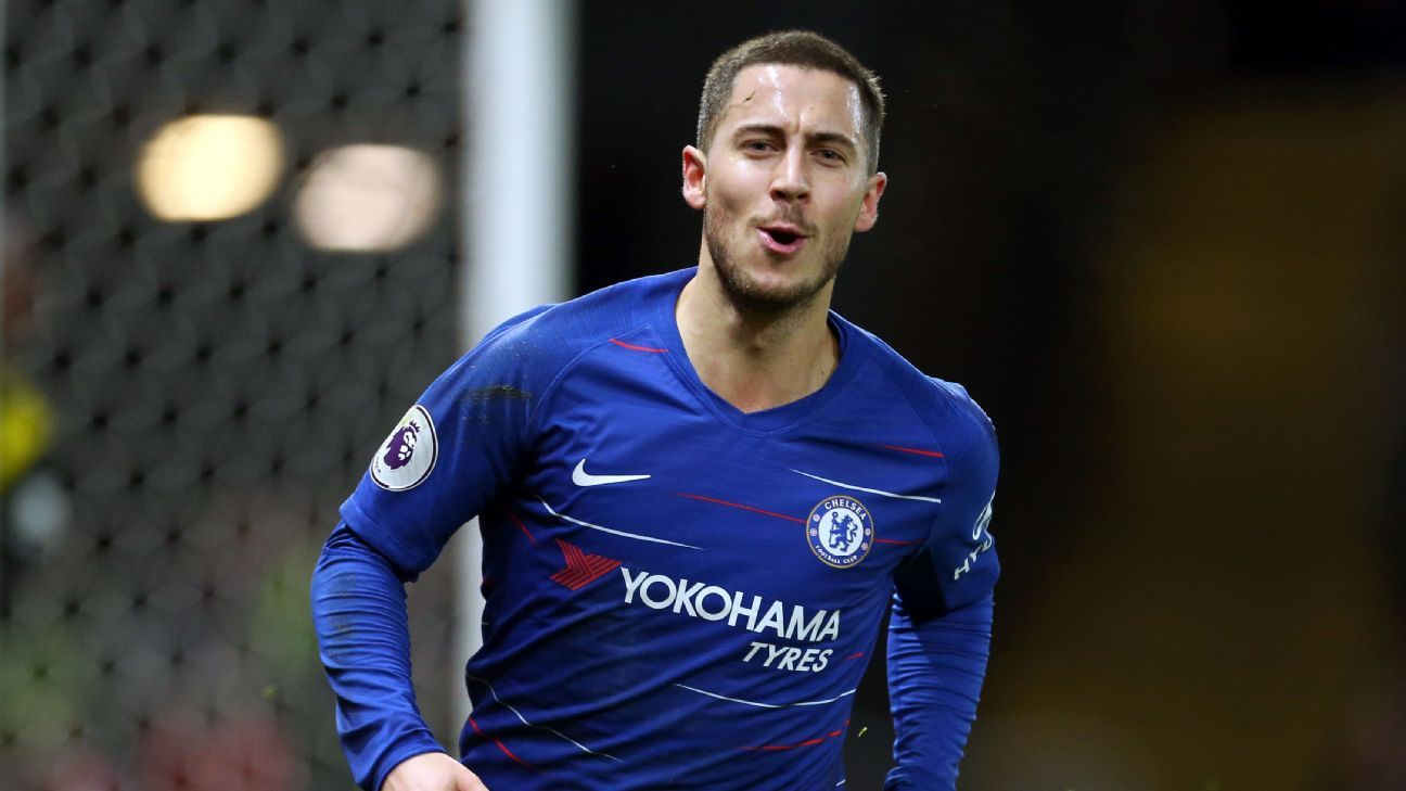 Eden Hazard's 100th and 101st goals as a member of Chelsea were enough to down Watford at Vicarage Road.