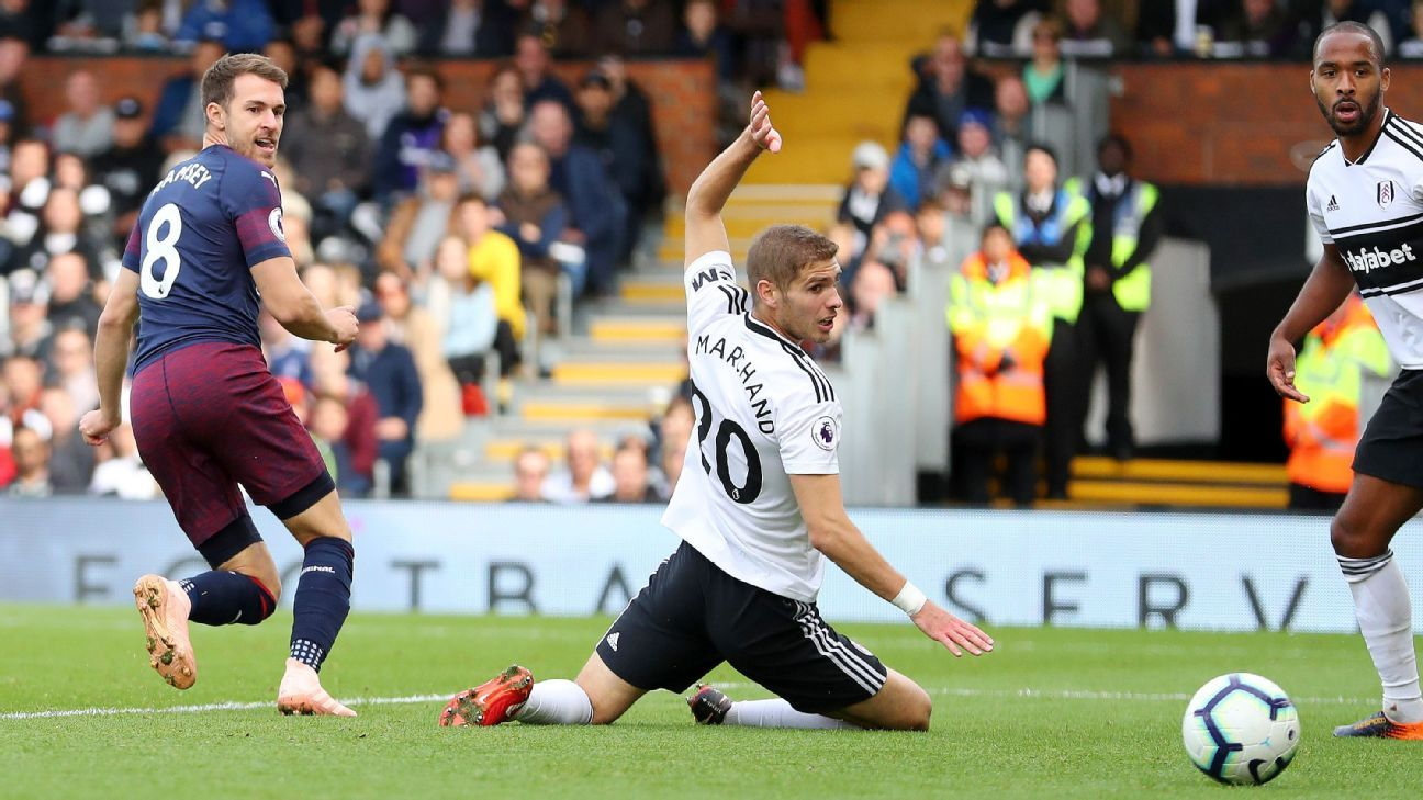 Ramsey, left, capped a sublime move as Arsenal swept past Fulham in early October.