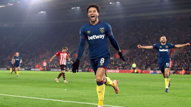Felipe Anderson started slowly but now has seven Premier League goals in nine games and eight overall this season.