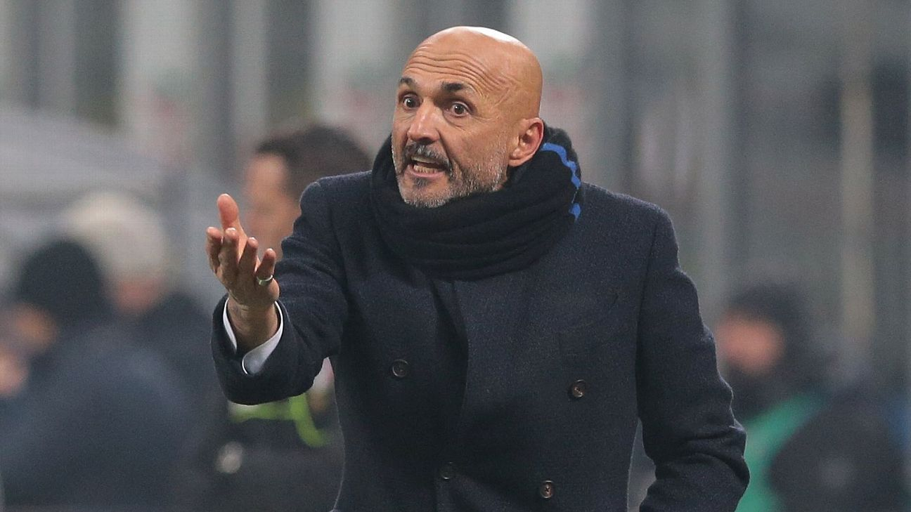 Inter Milan manager Luciano Spalletti on the touchline during the clash with Napoli on Boxing Day