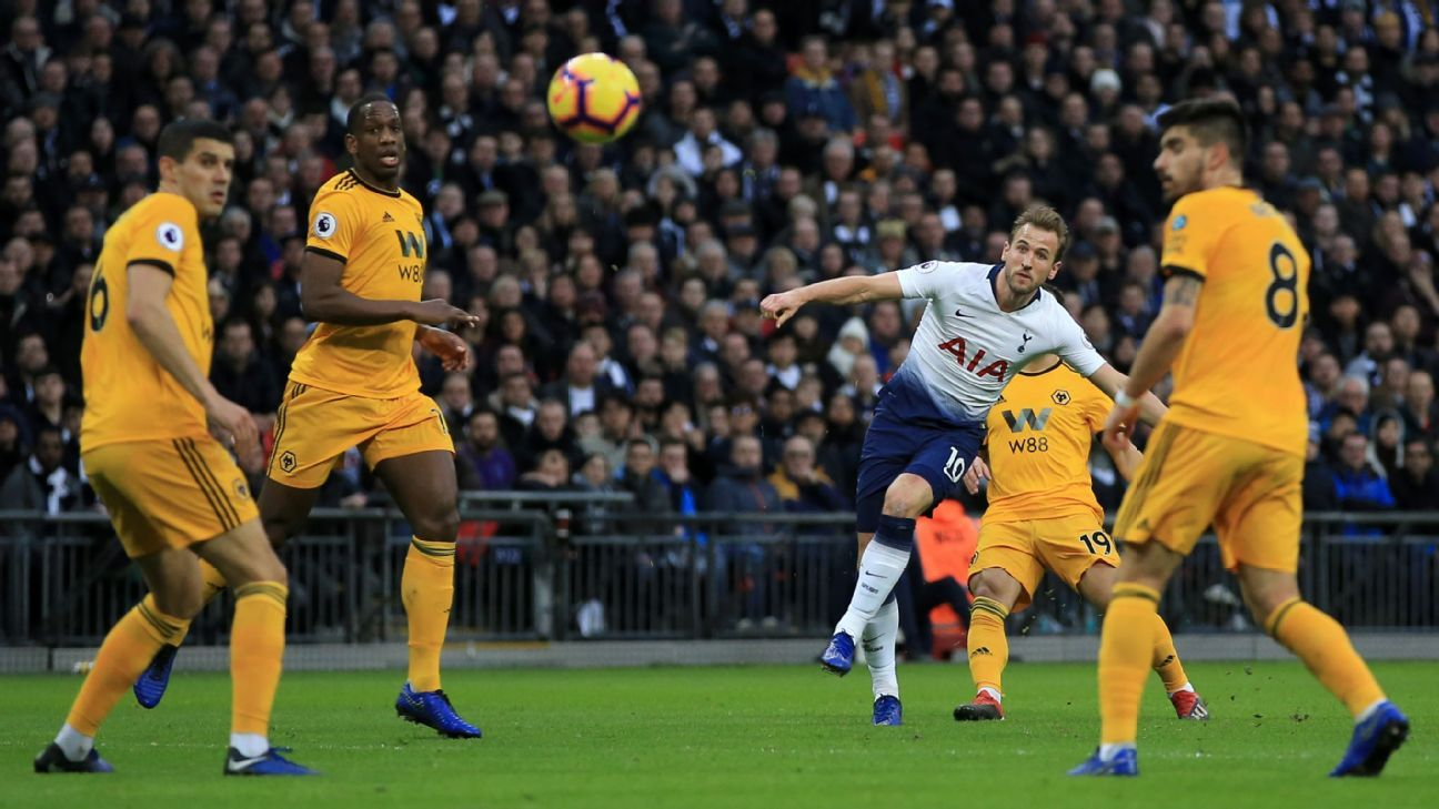 Tottenham were losers to Wolves but Harry Kane's 13th goal of the season was top rate.