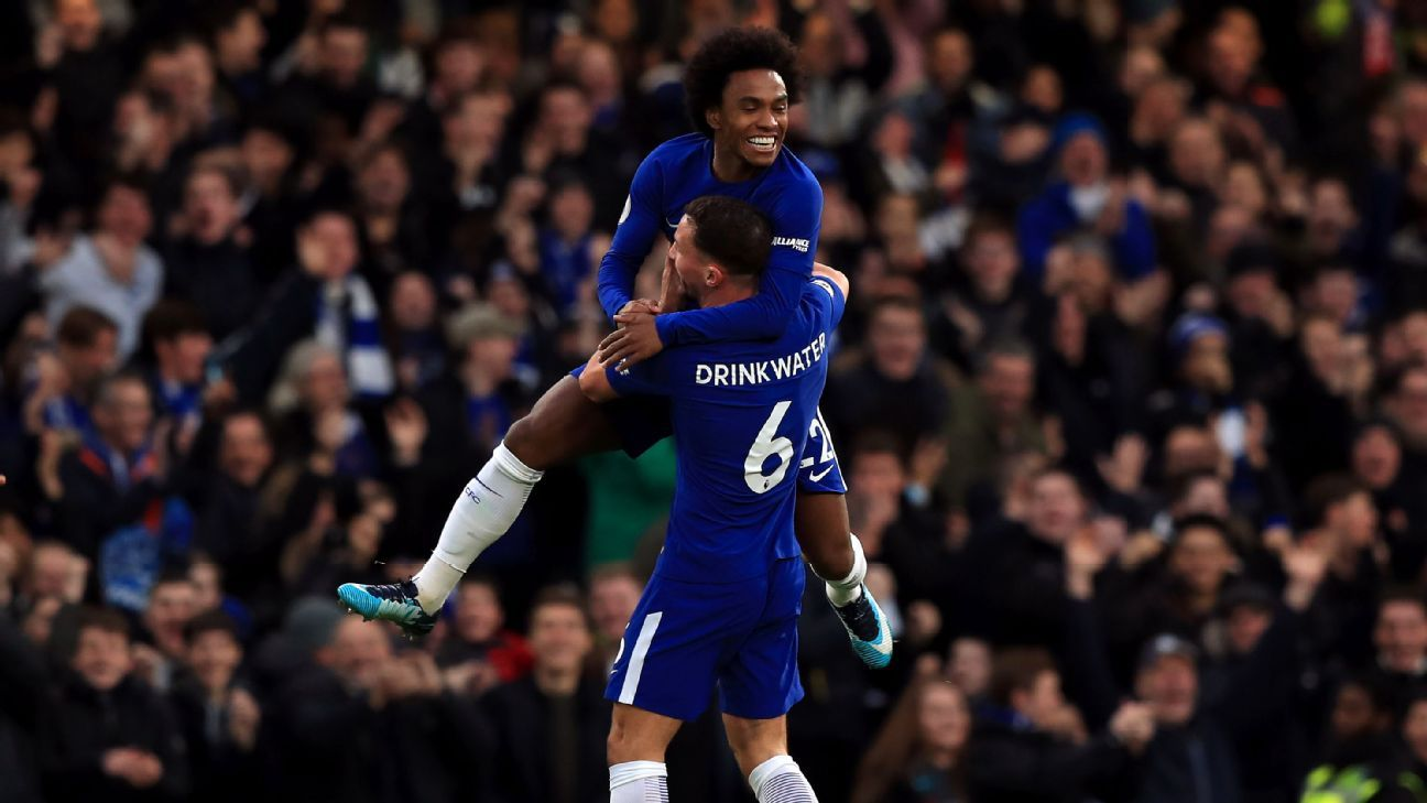 Willian and Danny Drinkwater