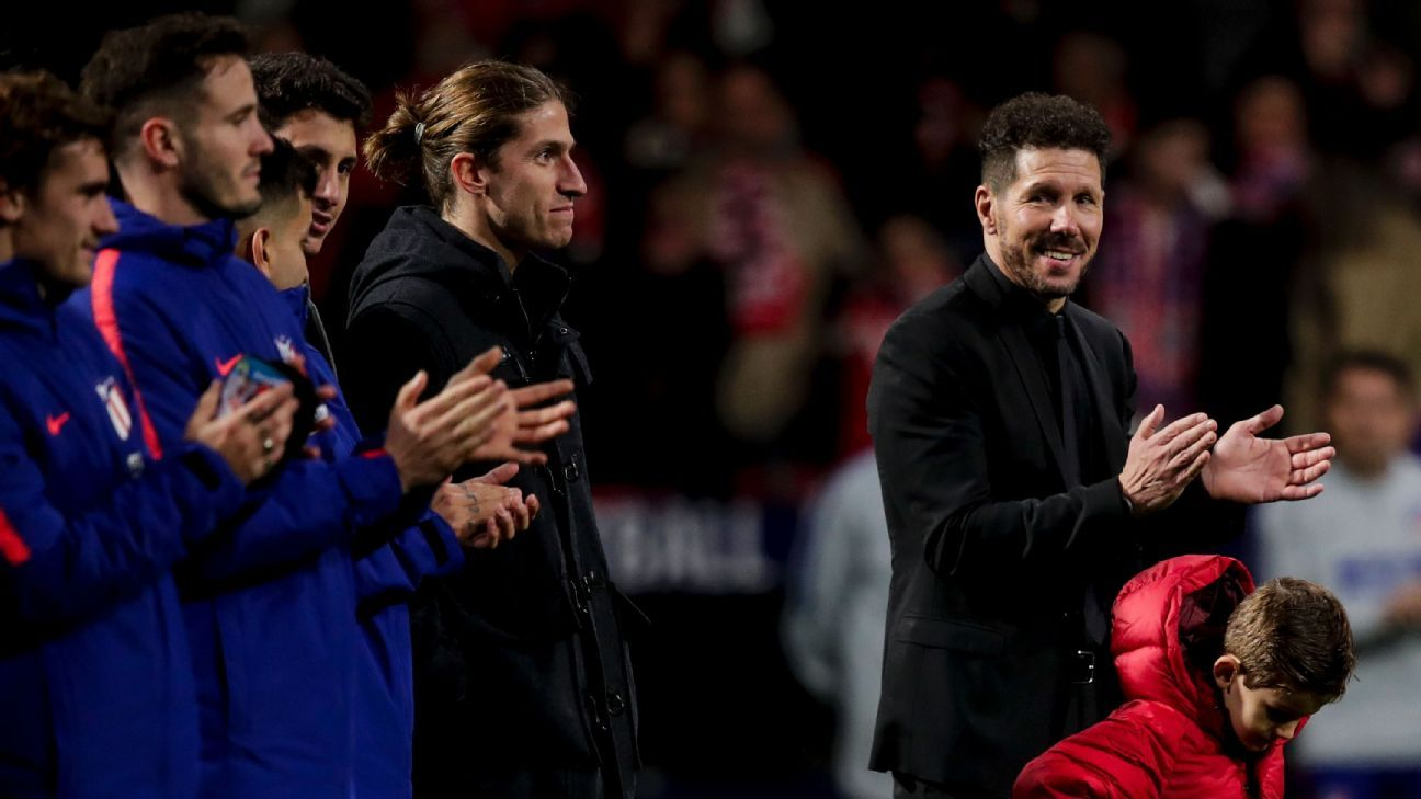 Simeone, right, has worked wonders with Atletico Madrid and it's imperative that he stays true to himself even as the game around him is changing.