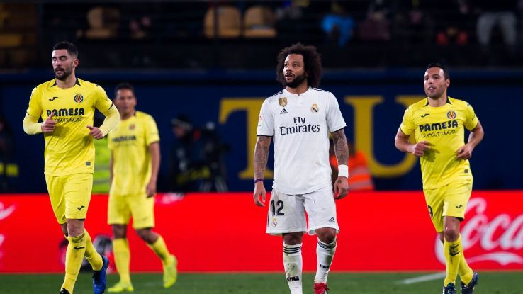 Real Madrid's Marcelo was given the runaround by exciting Villarreal teenager Samuel Chukwueze.