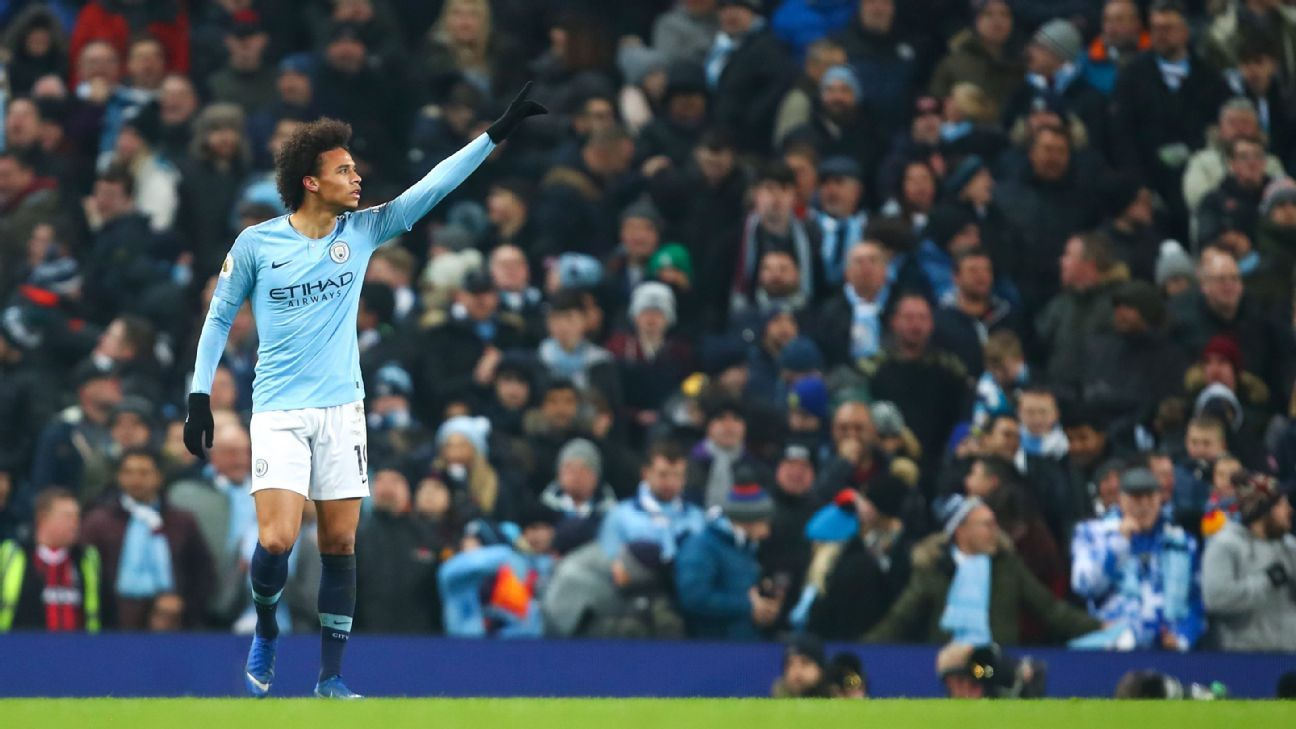Leroy Sane hopes his winner for Manchester City will crank up the pressure on title rivals Liverpool