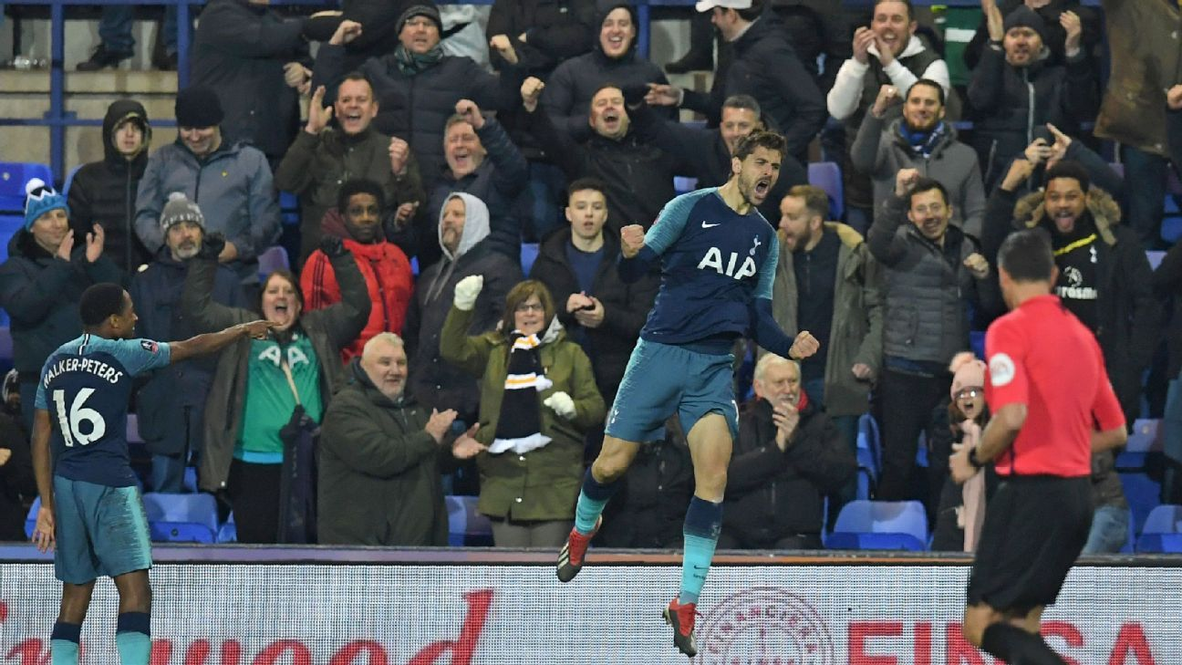 Rumoured with a move away from Tottenham this month, Fernando Llorente offered food for thought with an FA Cup hat trick.