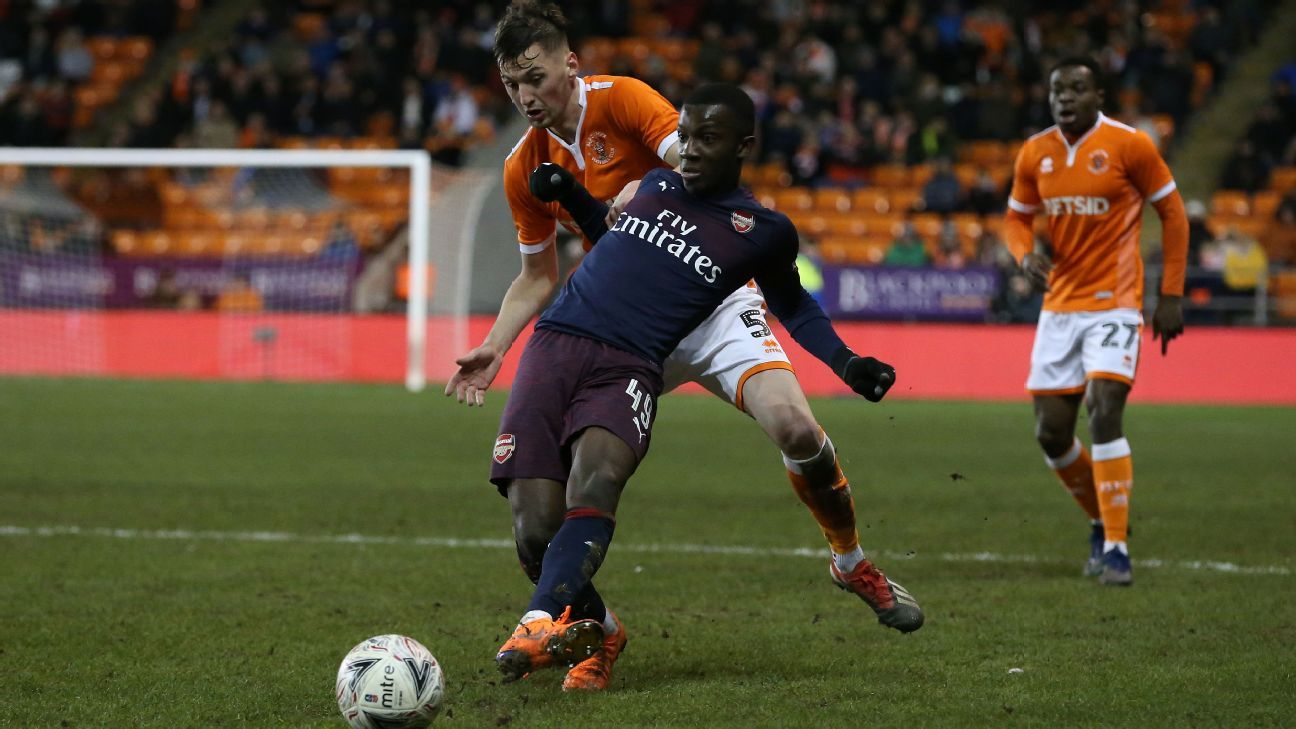 Nketiah was a constant nuisance for Blackpool's defenders but squandered a string of scoring chances that would have befitted his performance.