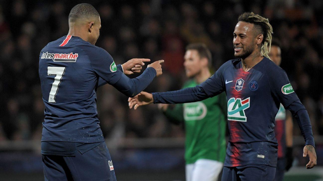 Kylian Mbappe and Neymar