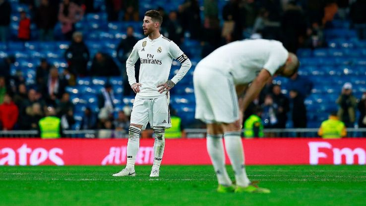 Real Madrid captain Sergio Ramos cannot hide his disappointed after losing 2-0 at home to Real Sociedad.