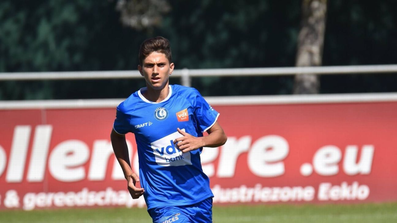 Ben Lederman's trying to crack into the Gent first team but is still adjusting to the physicality of the Belgian league.