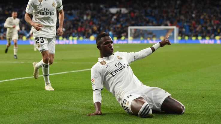Vinicius Junior, 18, is starting to emerge as a star at Real Madrid under Santiago Solari.