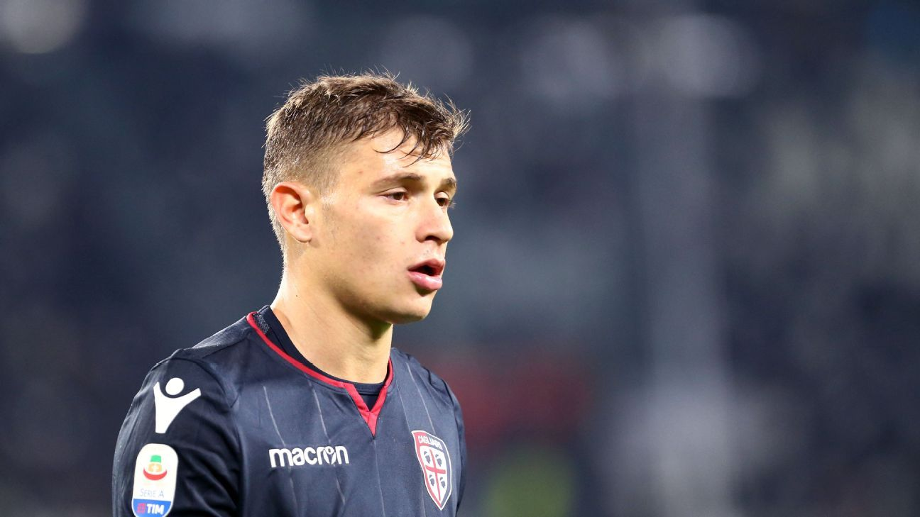 Nico Barella has only scored one goal this season but his influence in midfield for Cagliari is undebatable.