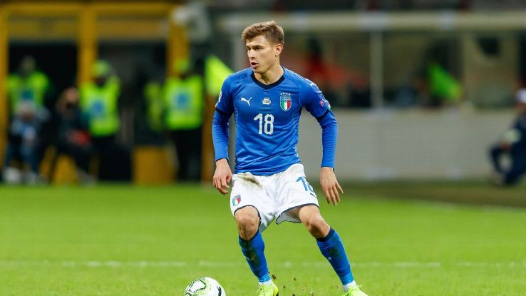 Nico Barella at 21 has fit seamlessly into Italy's midfield, playing with the calmness of an 10-year veteran.