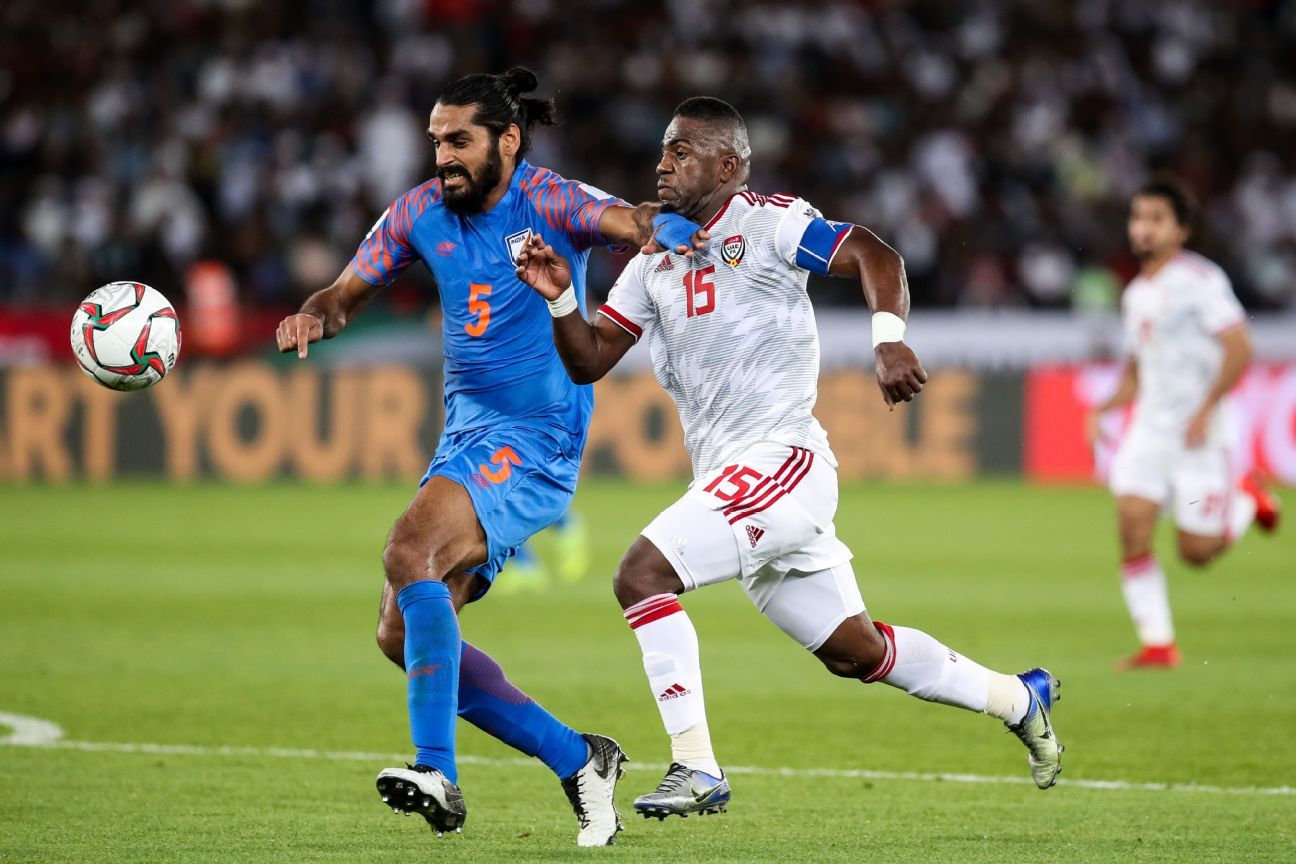 Jhingan almost extracted an own goal from the UAE defence in injury time.