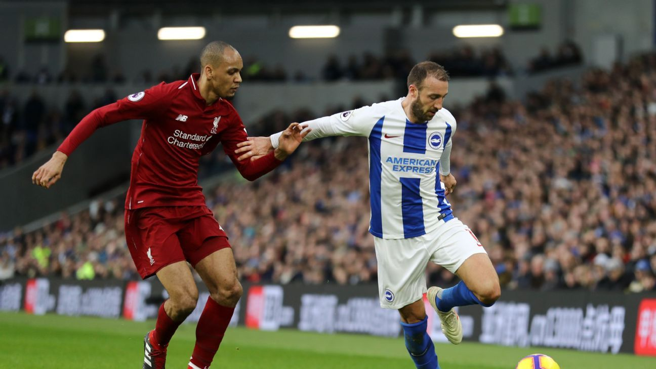 Fabinho slotted into Liverpool's defence due to injury and performed admirably against Brighton.