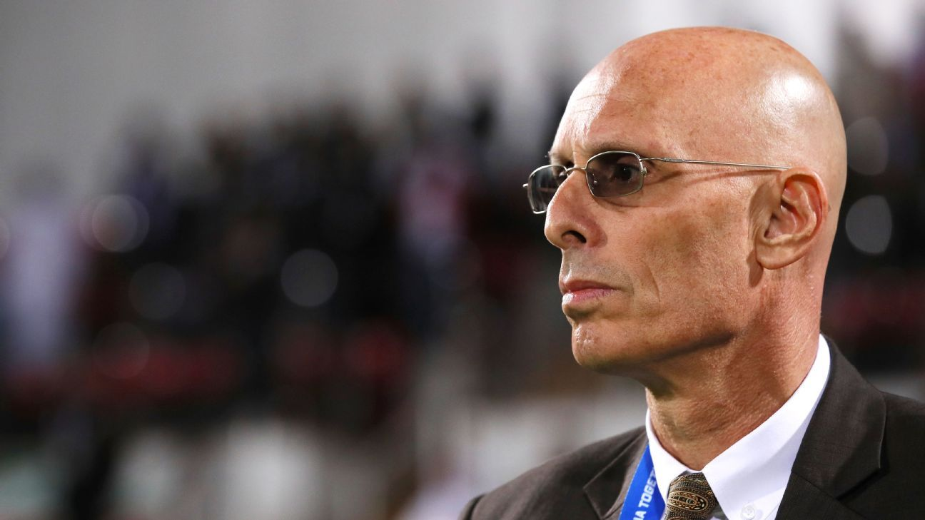 Stephen Constantine the head coach of India looks on prior to the AFC Asian Cup Group A match between India and Bahrain at Sharjah Stadium on January 14, 2019