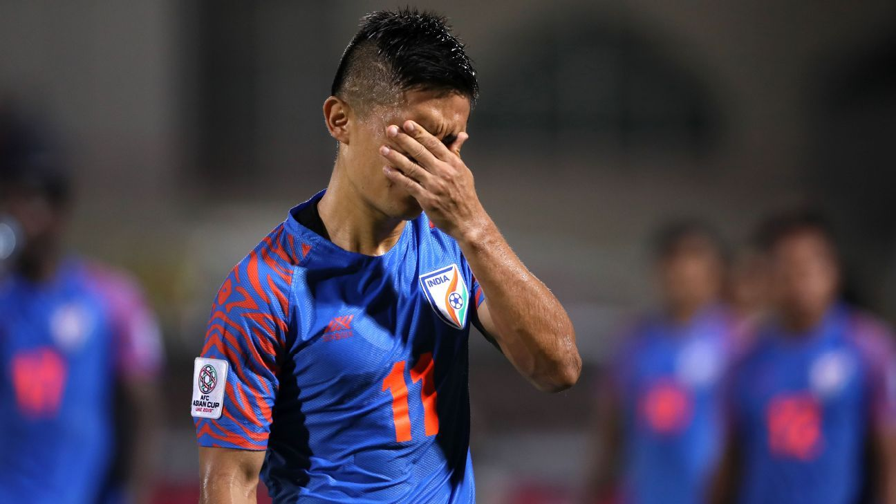 Sunil Chhetri said India defended well, but 'defended too much.'