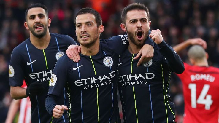 David Silva's opener had Man City on their way, as City ended a two-game skid with a much-needed win at Southampton.