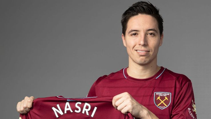 West Ham unveiled new arrival Samir Nasri on Monday. He is available to begin playing on Jan. 1, 2019.
