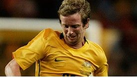 David Carney in action for the Socceroos