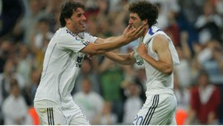 Ruud van Nistelrooy and Gonzalo Higuain: Former Real Madrid team-mates