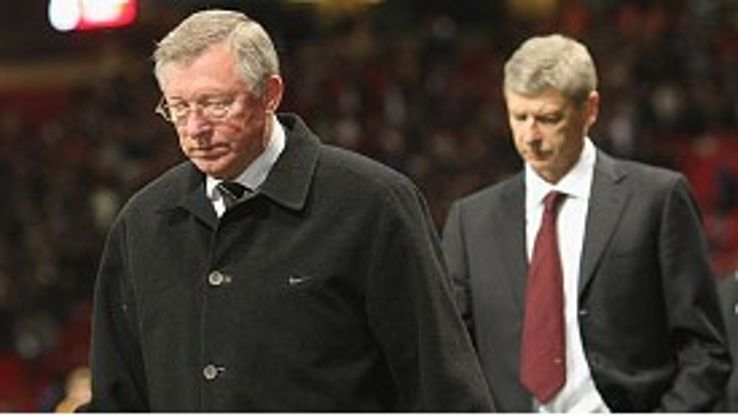 On his shoulder: Ferguson expects a strong challenge from Wenger
