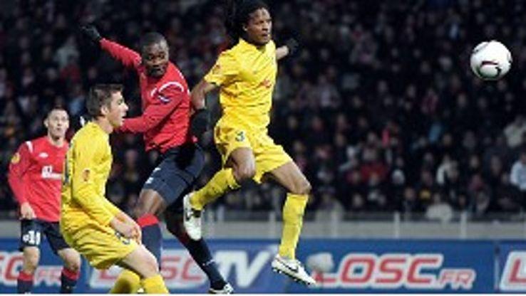 Aurelien Chedjou puts Lille into the lead