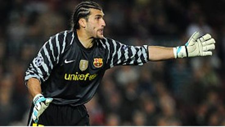 Jose Manuel Pinto helped Barcelona record a 2-0 victory