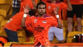 Jean Carlos Solorzano opened the scoring for Brisbane Roar on Wednesday