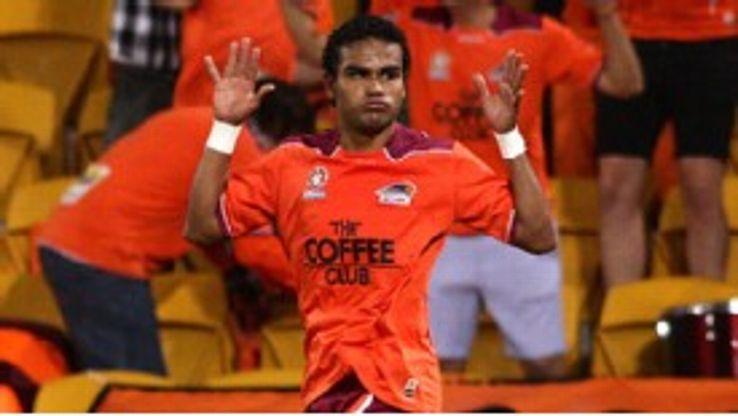 Jean Carlos Solorzano opened the scoring for Brisbane Roar on Wednesday
